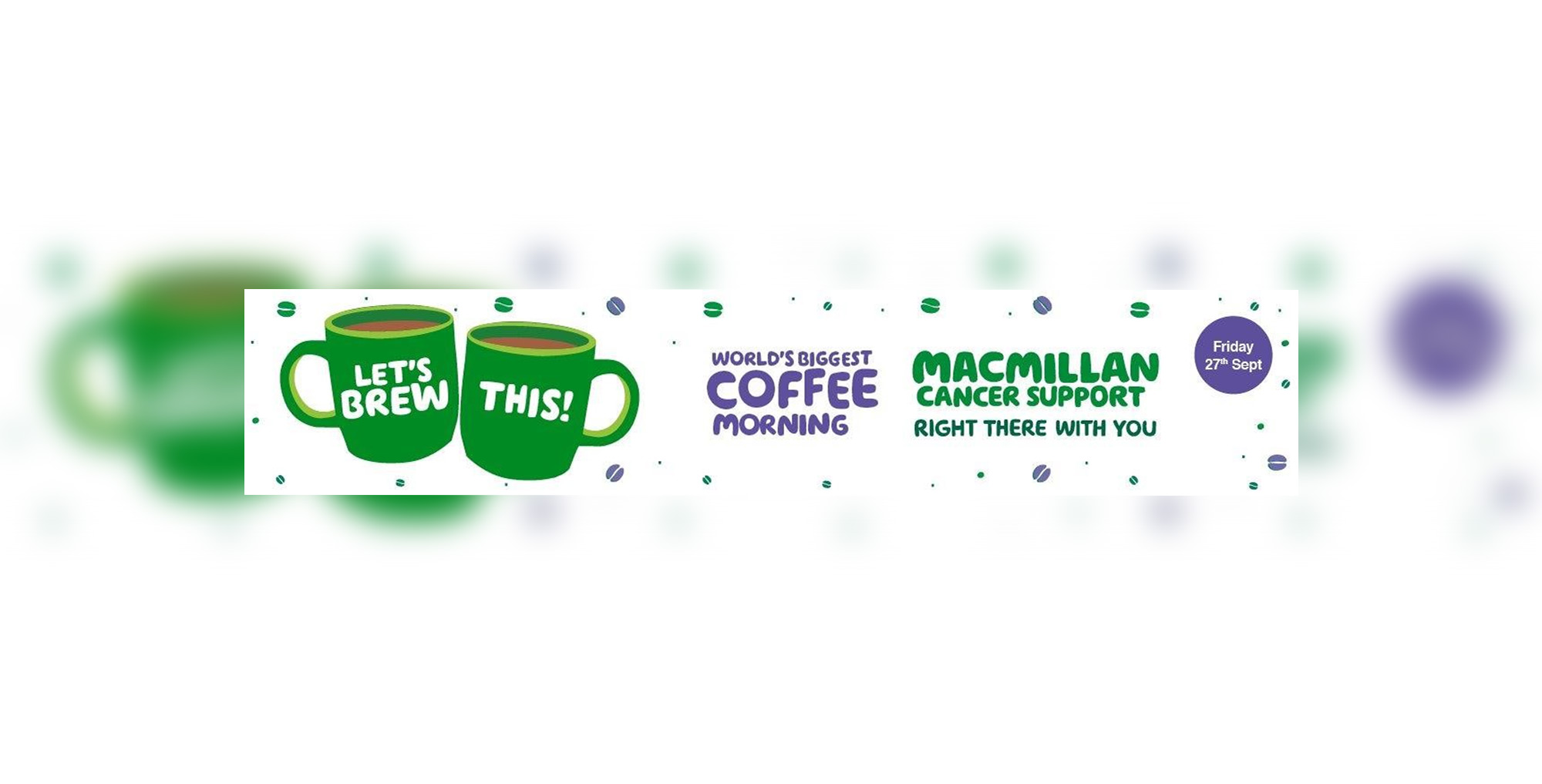 Macmillian coffee morning poster