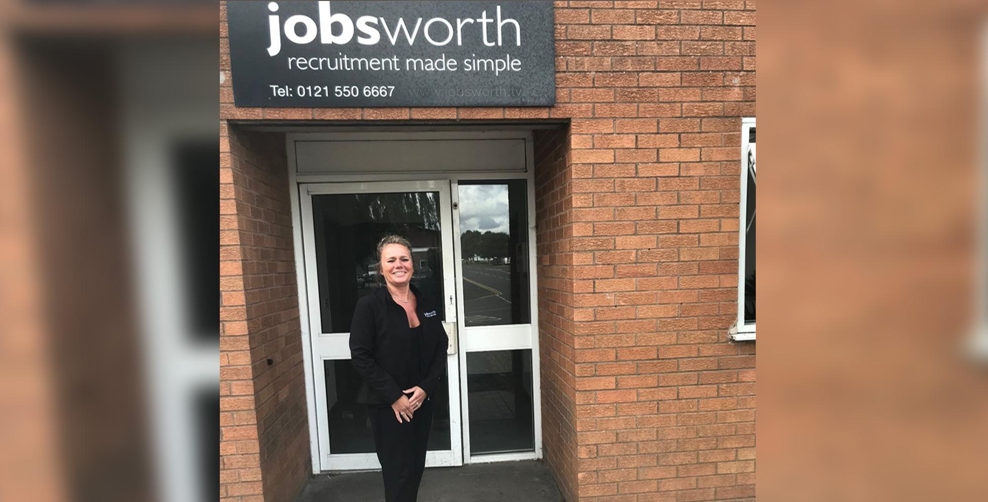 Employee standing infront of Jobsworth entrance