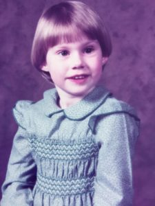 Old photograph of Lucy Yorke as a young child