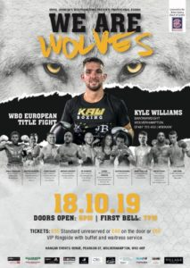 Black Country Boxing - Poster with Kyle Williams